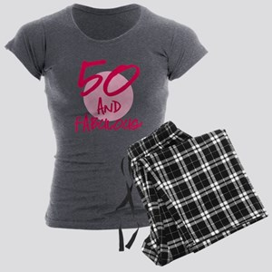 50 And Fabulous Women's Charcoal Pajamas