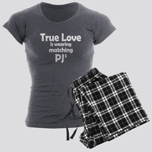 Love is matching PJs Women's Charcoal Pajamas