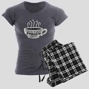 I Speak Friends Quotes Women's Charcoal Pajamas