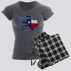 someone in texas loves me Women's Charcoal Pajamas