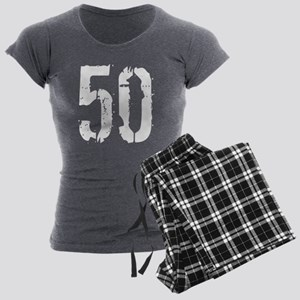 Grunge 50 Sty Women's Charcoal Pajamas