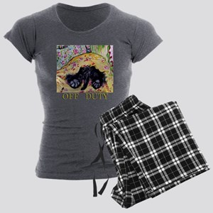 Scottish Terrier Off Duty Women's Charcoal Pajamas