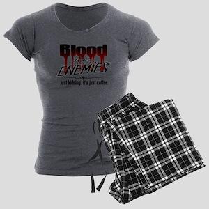 Coffee Blood Women's Charcoal Pajamas