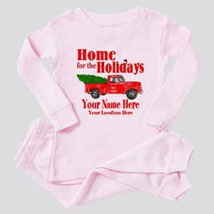 Home for the Holidays Toddler Pink Pajamas