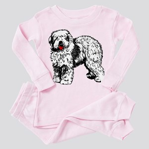 Old English Sheepdog Toddler Pink Pajamas