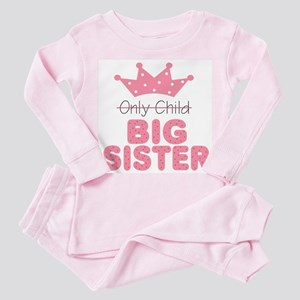 Only Child Big Sister Baby Infant Toddler Pink Paj