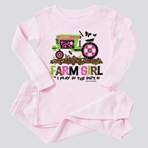 Farm Girl Toddler Pink Pajamas