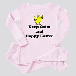 Keep Calm And Happy Easter Chick Pajamas