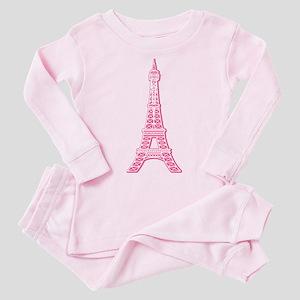 EIFFEL-TOWER-PINK Toddler Pink Pajamas