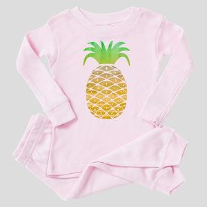 Colorful Pineapple Toddler Pink Pajamas