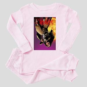 SwordCat Knights Cover 1 Toddler Pink Pajamas
