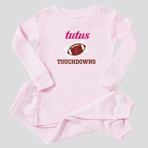 Tutus and Touchdowns Toddler Pink Pajamas