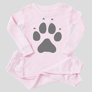 Wolf Paw Print Toddler Pink Pajamas