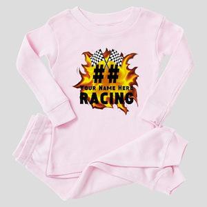 Flaming Racing Toddler Pink Pajamas