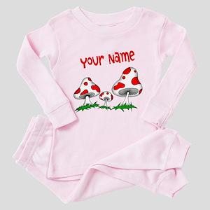 Shrooms Toddler Pink Pajamas