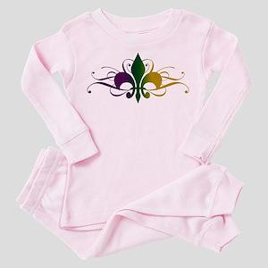 fleur-de-lis-swirls_color Toddler Pink Pajamas