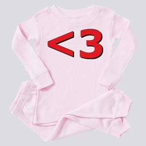 Less than 3 Toddler Pink Pajamas