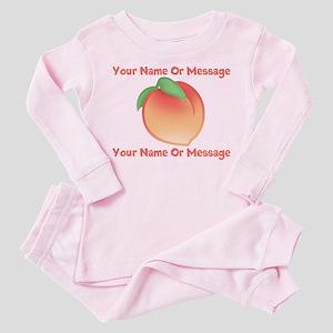 PERSONALIZED Peach Cute Toddler Pink Pajamas