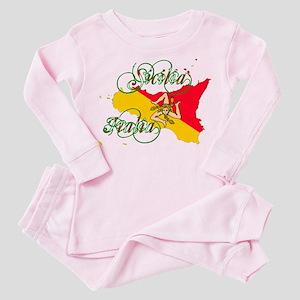 Sicilia Italia Toddler Pink Pajamas