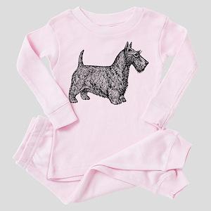 Scottish Terrier Toddler Pink Pajamas