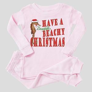 beachy xmas 2 Toddler Pink Pajamas