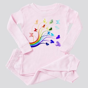 Butterflies and Rainbows Toddler Pink Pajamas