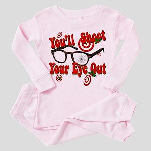 shoot your eye out Toddler Pink Pajamas