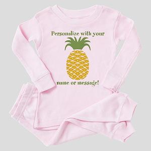 PERSONALIZED Pineapple Toddler Pink Pajamas