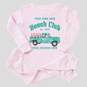 Flamingo Beach Club Toddler Pink Pajamas