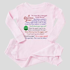 A Christmas Story Quotations Toddler Pink Pajamas