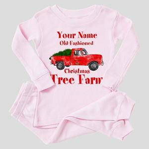 Custom Tree Farm Toddler Pink Pajamas