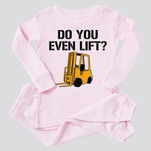 Do You Even Lift Forklift Toddler Pink Pajamas