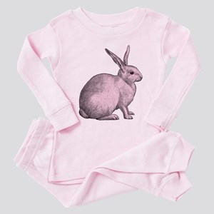 Pink Bunny Rabbit Toddler Pink Pajamas