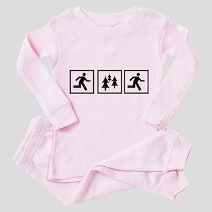 Run Forest Run Toddler Pink Pajamas