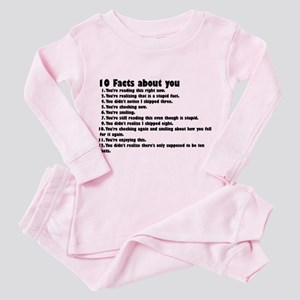10 Facts about you Toddler Pink Pajamas