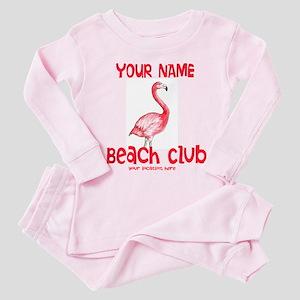 Custom Beach Club Toddler Pink Pajamas