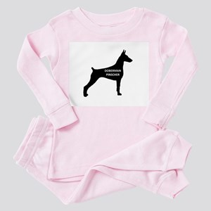 doberman pinscher name on silhouette Pajamas