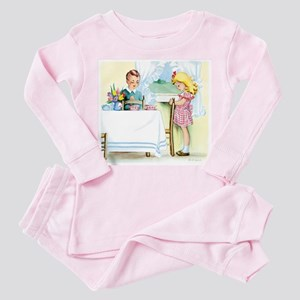 Vintage Saying Grace At Easter Pajamas