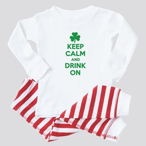 Keep Calm and Drink On. Baby Pajamas