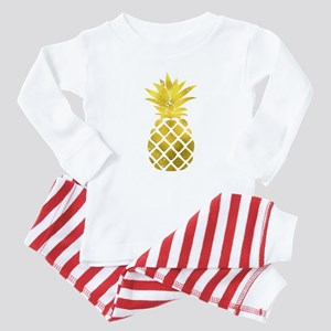 Faux Gold Foil Pineapple Baby Pajamas