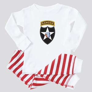 2nd Infantry Div with Ranger Baby Pajamas