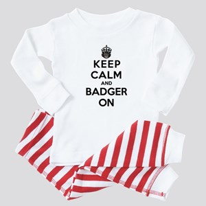 Keep Calm And Badger On Baby Pajamas