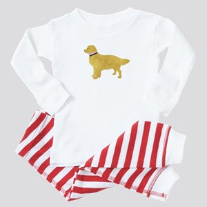 Preppy Golden Retriever Baby Pajamas