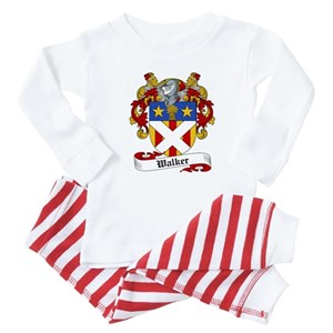 Walker Family Crest Baby Pajamas - CafePress