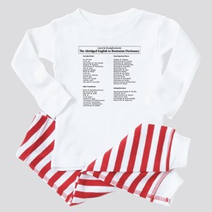 Boston-English Dictionary Baby Pajamas