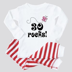 Cute 30th Birthday Butterfly Baby Pajamas