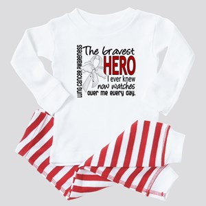 Bravest Hero I Knew Lung Cancer Baby Pajamas