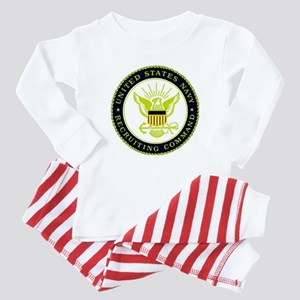 US Navy Recruiting Command Baby Pajamas