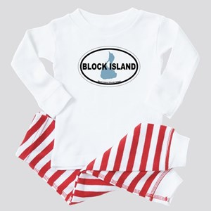 Block Island RI - Oval Design. Baby Pajamas