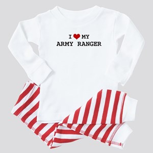 I Love My Army Ranger Baby Pajamas